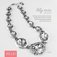 Our Lily Rose Couture Necklace in Classic Swarovski Crystals. Cushion Cut, Necklaces, Bracelets, Corset, Swarovski Crystals, Jewlery, Lily, Collections, Couture
