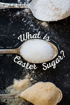 The grain size of sugar can make a huge difference in your end product! Learn more about caster sugar here! Baking Basics, Baking Tips, Baking Recipes, Cookie Recipes, Baking Hacks, Just Desserts, Delicious Desserts, Swedish Recipes, Swedish Foods