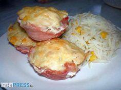 Recept: Baconös csirkemell filé muffin formában sütve és desszert