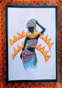 Madhubani Art, Madhubani Painting, Painted Books, Hand Painted, Pen Art, World Of Color, Gel Pens, Indian Art, Lovers Art