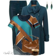 """""""Brown & Teal Contest"""" by carolinez1 on Polyvore"""