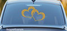 Hochzeitsdeko - Hochzeits-Herzen - Wunschtext - Autotattoo - ein Designerstück von CatrinKerschl bei DaWanda