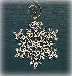 A new snowflake (but please, no more snow!) (Tatting by the Bay)