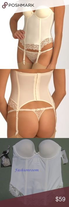 NWT Simone Pérèle Lingerie Céleste Torselett 34B a104 NWT Simone Pérèle Lingerie Céleste Torselett 12M410 naturel Ivory 34B $170 35% polyamide, 33% polyurethane, 18% polyester, 14% spandex Torselett Picture depiction: color naturel • Molded lined cups • Lower ends made of elastic Textronic lace • To open and close at the back with check marks • Removable straps and garters (straps included) (panties and stockings not included) New with tags $170 Imported Simone Pérèle Intimates & Sleepwear…