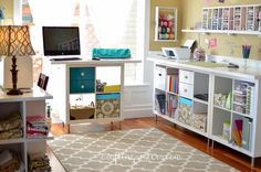 Crafting Sisters: DIY - Dining Room to Craft Room