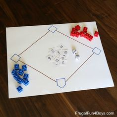 Math Facts Baseball - A simple game for practicing addition, subtraction, multiplication, or division facts