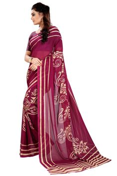 839958e125fb9b Buy Mastani Maroon Georgette Saree For Womens Online at Low prices in India  on Winsant