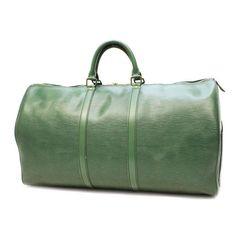 Louis Vuitton Keepall 55 Epi Luggage Green Leather M42954