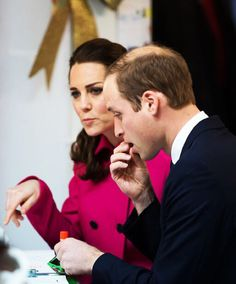 Sharing is caring!: The Duke and Duchess of Cambridge share sweets when visiting the Door today in New York City