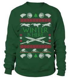 Winter is Here - Christmas Sweater   => Check out this shirt by clicking the image, have fun :) Please tag, repin & share with your friends who would love it. Christmas shirt, Christmas gift, christmas vacation shirt, dad gifts for christmas, mom gifts for christmas, funny christmas shirts, christmas gift ideas, christmas gifts for men, kids, women, xmas t shirts, Ugly Christmas Sweater Shirt #Christmas #hoodie #ideas #image #photo #shirt #tshirt #sweatshirt #tee #gift #perfectgift #birthday…