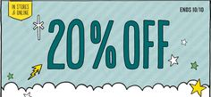 20% OFF | ENDS 10/10