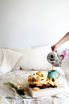 Morning Inspiration // Peach & Blueberry Waffles — Treasures & Travels