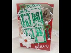 Victorian Christmas Cards with Spellbinders dies