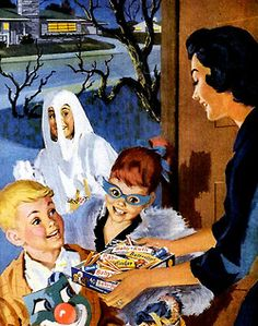"""Trick or Treat!"" ~ Full Size Halloween Candy Bars! ?? ~ This '60s Neighborhood Mom's ""The Bomb!"""