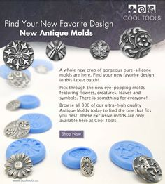 Cool Tools: New Silicone Molds for Precious Metal Clay Charms post by Beth Hemmila of Hint Jewelry