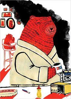 Zachariah Ohora bear morning illustration