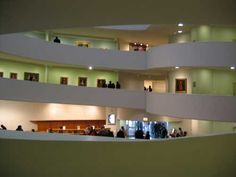 The Guggenheim provides a clear example of Frank Lloyd Wright's belief that form follows function in the modernist era. The spiral staircase is a simple way to be purposeful in the design but also have a unique form that comes directly from this function.
