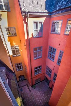 Colourful houses in Old Town, Stockholm. Stockholm Old Town, Stockholm Sweden, City Life, House Colors, My Dream, Scandinavian, Cities, Buildings, Beautiful Places