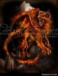 Elemental Dragons Collection.. FIRE Dragon... by mysticmoonmedia