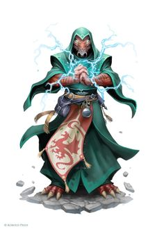 Dragonborn Elementalist by WillOBrien on DeviantArt Fantasy Character Design, Character Design Inspiration, Character Concept, Character Art, Dungeons And Dragons Characters, Dnd Characters, Fantasy Characters, Fantasy Figures, Fantasy Races