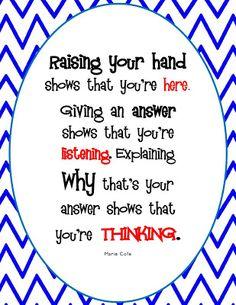 The Hands-On Teacher: A New Classroom Sign (FREEBIE)