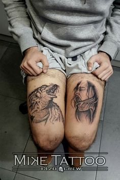 Wolf woman tattoo