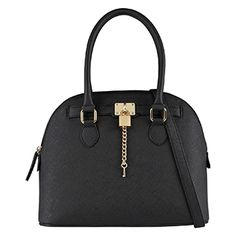 A nice cleanly tailored black purse. The link below is to Aldo. I love their purse styles.