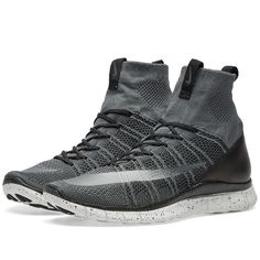 In this bold remastering of Cristiano Ronaldo's signature shoe, Nike deliver an updated version of their sock-like, featherweight Mercurial Superfly with uppers constructed from Flyknit technology for supreme comfort and breathability. Flywire fastening enables an adaptive fit and an injected midsole with flex grooves to the outsole deliver cushioning and durability.    Flyknit Uppers Flywire Fastening Injected Midsole Unit Rubber Pods Outsole Flex Grooves Style Code: 805554-400
