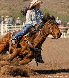 Pro Rodeo Barrel Racing