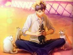 Rokumaru (Artist), IDEA FACTORY, Natsuzora no Monologue, Kinose Kazuki, Holding Animal, Field