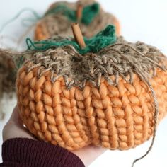 Knit Look Rustic Pumpkin - MJ's off the Hook Designs
