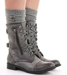I found 'Military Style Brown Lace Up Ankle Boots' on Wish, check it out!