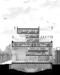 Architectural illustrations on by catedrarois tag illustrarch to get feature illustrarch architecture illustration design drawing 32 sunrise at the micro house von soroush haghighat Architecture Design Concept, Define Architecture, Architecture Sketchbook, Education Architecture, Architecture Graphics, Architecture Board, Section Drawing Architecture, Architecture Tattoo, Presentation Board Design