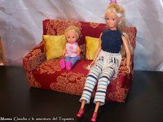 divano per Barbie fai da te