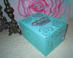Painted Cigar Boxes. Tiffany Blue. Parisian. by VintageByReDesign