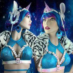 Light up LED Unicorn Harness Hologram rave cyber harajuku japanese mermaid pastel goth pony bdsm fet Magenta Hair, Aqua Hair, Unusual Gifts For Her, Hologram, Holographic, J Valentine, Mermaid Glitter, Unicorns And Mermaids, Pastel Fashion