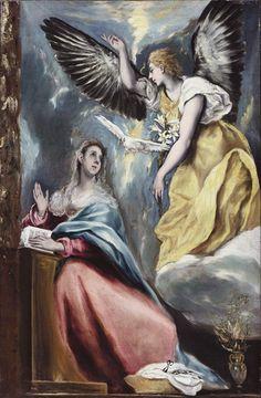 El Greco Paintings Loose Girl | La anunciacion by El Greco