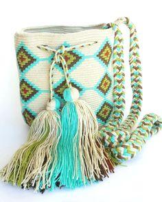 Alynshop - Wayuu Bag-Pattern Mint Blue Tribe, $99.00 (http://www.alynshop.com/wayuu-bag-pattern-mint-blue-tribe/)