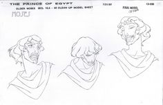 Enjoy a collection of 100 Original Concept Art, Model Sheets, Character Design, Background & more made for Dreamworks' Classic movie: The Prince of Egypt. Character Design Tips, Character Design References, Character Design Inspiration, Character Concept, Character Art, Dreamworks Animation, Animation Film, Prince Of Egypt, Disney Concept Art