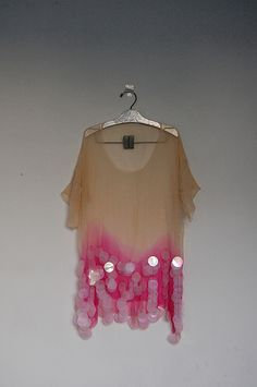 Silk chiffon sheer hand dyed top by Barbara PM, via Flickr