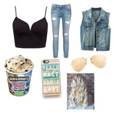"""Untitled #71"" by mkcorniel on Polyvore featuring Current/Elliott, Casetify, Ray-Ban and Forever New"