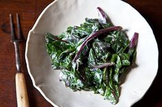 Warm Beet Greens with Sour Cream Dressing recipe on Food52