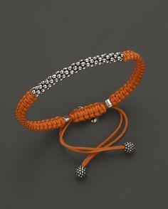 makramee armband orange kette kugeln elegant