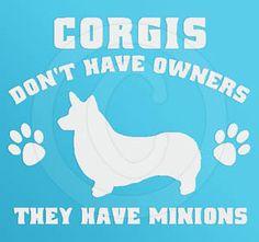 Pembroke Welsh Corgi Minions Decal
