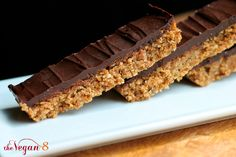 Vegan Butterfinger Candy Bars with just 6 ingredients, dairy-free, oil-free and incredibly delicious! Made with whole foods and mulberries! I'm just going to put this out there....thismight just bethe mostamazing recipe I have ever been able to come up with in my kitchen.....especially considering the ease and ingredient list! I took my favorite candy bar of all time that is