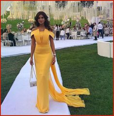 Elegant Yellow Mermaid Satin Evening Dresses Off the Shoulder Boat Neck Floor Length Prom Dress Long Party Gowns sold by loveu on Storenvy Dinner Gowns, Evening Dresses, Prom Dresses, Formal Dresses, Braids Maid Dresses, Long Party Gowns, African Fashion Dresses, Classy Dress, Yellow Dress
