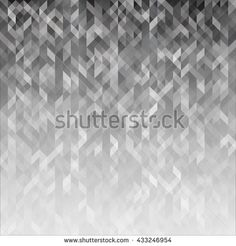 Abstract geometric background. Graphic polygonal backdrop. Modern blank template in shades of gray. Wallpaper with fancy winter pattern. Vector illustration.