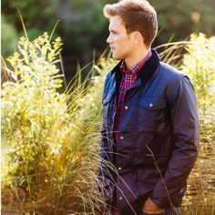 Country Club Prep ~ Products ~ Maritime Wax Jacket in Blue Depths by Southern Tide ~ Shopify