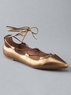 Lace-up ballet flats♡♡♡
