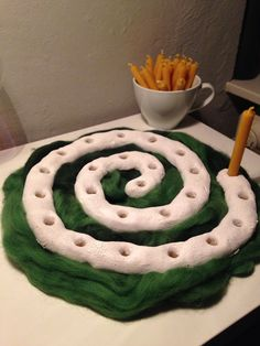 Adventsspirale aus Salzteig/advent spiral out of salt dough